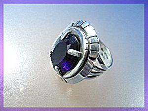 Sterling Silver Amethyst Ring CARL QUITMAN (Image1)