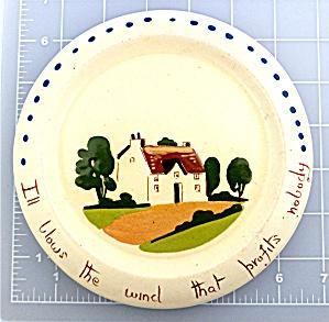 Watcombe Pottery Torquay Mottoware Plate  (Image1)