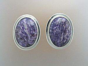 David Troutman & Gundi Sterling Silver Charoite Earring (Image1)