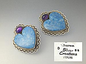 David Toutman Sterling Silver Denhim Lapis Garnet Heart (Image1)