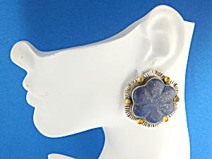 DavidTroutman & GUNDI Lapis Citrine Sterling Silver Ear (Image1)