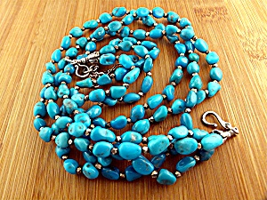 GUNDI Sleeping BeautyTurquoise 3 Strands Necklace  (Image1)