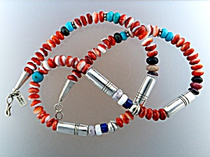Native American TOMMY SINGER Beads Sterling Silver (Image1)