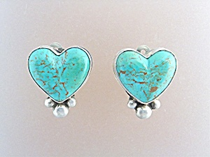 David Troutman Sterling & Gundi Silver Turquoise Heart