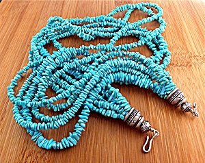Necklace Sleeping Beauty Turquoise Sterling Silver (Image1)