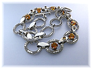 Necklace Sterling Silver Citrine Bali Peggy V (Image1)