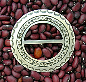 Native American Sterling Silver RICHARD YAZZIE Belt Buc (Image1)