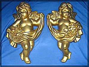 Cherub Angel Wall Plaques, 1966 Miller Studio