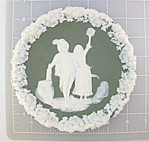 Vintage Schafer & Vater Jasperware Plaque (Image1)