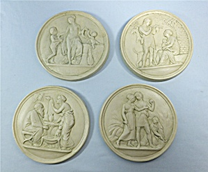 Four seasons plaques in plaster of Paris Hand Made (Image1)