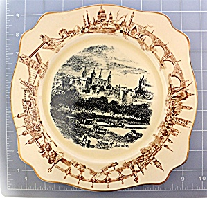 Tower Of London Plate By A. J. Wilkinson Ltd. England