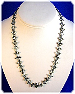 Sterling Silver Bead Necklace Indonesia 53.3 Grams (Image1)