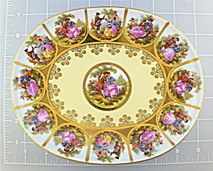 Fragonard - Love Story Plate - Handpainted  (Image1)