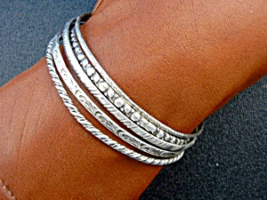 Bangle Bracelets From England Sterling Silver 5 (Image1)