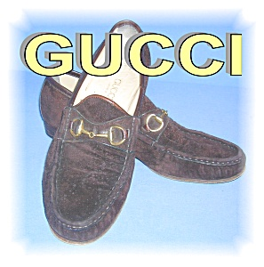 GUCCI Chocolate Brown Suede  Shoes Italy (Image1)