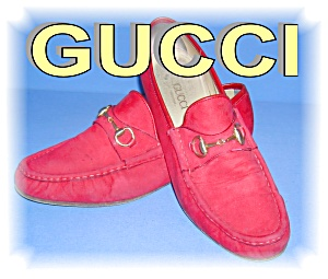 Gucci Red Suede  Shoes Italy (Image1)