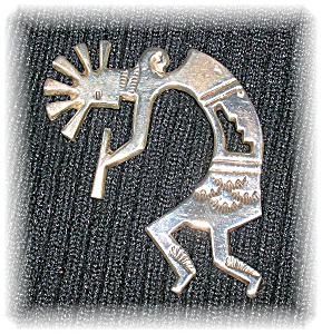 Sterling Silver Kachina Dancer Brooch Pin (Image1)