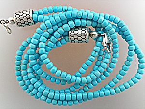 Native American Sleeping Beauty Turquoise Sterling Silv (Image1)