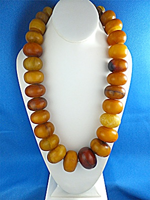 Necklace Multi Color African Amber Beads (Image1)