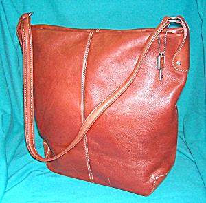 Fossil Tan Leather Shoulder Bag Purse. (Image1)