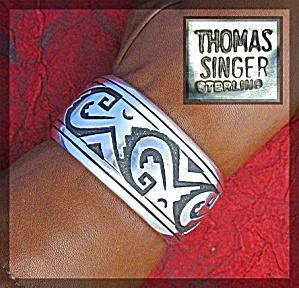 Tommy Singer Native American Sterling Silver Cuff