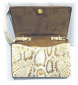 SAKS Fifth Ave Snakeskin Shoulder Bag  (Image1)