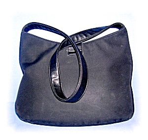 Black Dkny Microfiber Handbag, Purse........