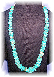 AMERICAN INDIAN TURQUOISE NECKLACE.. (Image1)