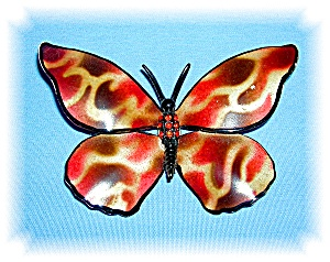 Gorgeous 3 1/2 Inch Butterfly Brooch, Pin...