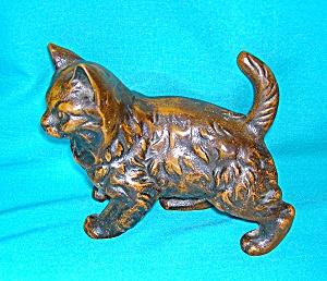 Bronze Metal Cat Ornament Figure (Image1)