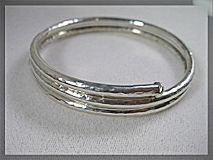 Sterling Silver Coil Bangle Bracelet (Image1)