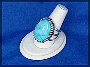 Carico Lake Turquoise Sterling Silver A J PLATERO Ring (Image1)