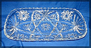 Glass bread serving tray clear, cut (Image1)