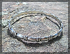 Bracelet Sterling Silver Bangle Taxco Mexico Signed MCE (Image1)