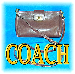 LEATHER COACH CLUTCH HANDBAG PURSE....... (Image1)