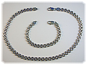Necklace and Bracelet  Sterling Silver ITALY (Image1)