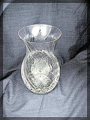 Towle Vase, lead crystal, swirl (Image1)