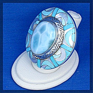 Ring Larimar Sleeping Beauty Turquoise Sterling Silver (Image1)