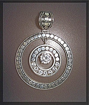 Pendant Sterling Silver Natural White Zircon Peggy V. (Image1)