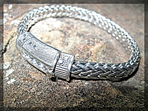 Bracelet Natural White Zircon Sterling Silver By Peggy (Image1)