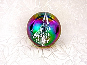 Paperweight Iridescent Blue Green White Mt St Helens As (Image1)