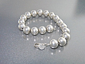Tiffany Sterling Silver Siver Bead Bracelet