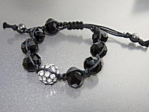 Onyx Crystal Cord Pull Bracelet (Image1)