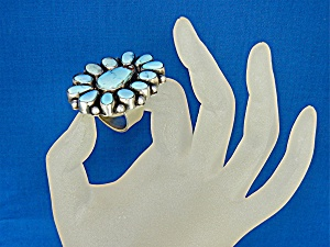 Navajo Golden Hills Turquoise Sterling Silver Ring