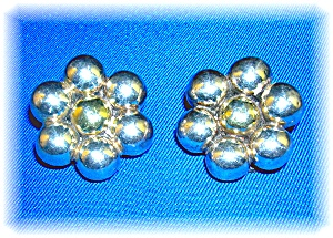 Earrings Sterling Silver Balls Clips  (Image1)