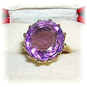 Ring 14k Gold Gold And Amethyst