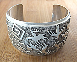 BEN NIGHTHORSE CAMPBELL Sterling Silver Cuff USA (Image1)
