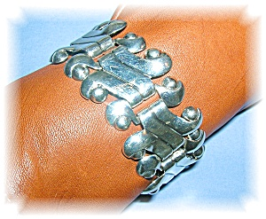 Sterling Silver Mexico Scroll Link  Bracelet (Image1)