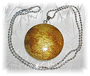 STERLING SILVER GOLDEN  PENDANT NECKLAC (Image1)