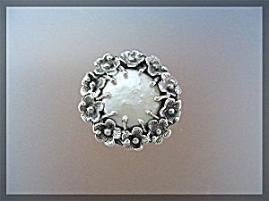 Sterling Silver Mabe Pearl Flower Ring